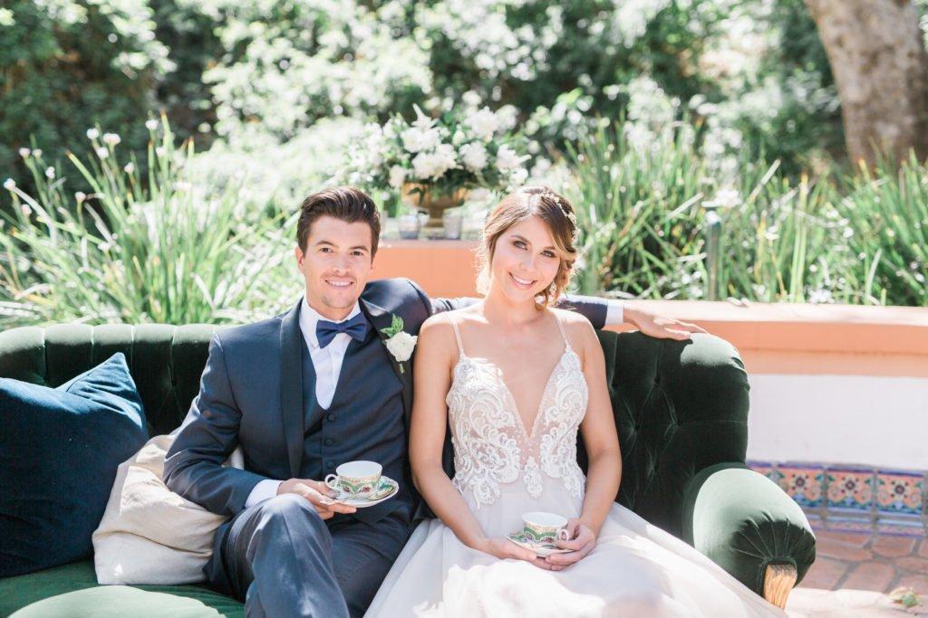 velvet sofa, vintage rentals, wedding rentals,